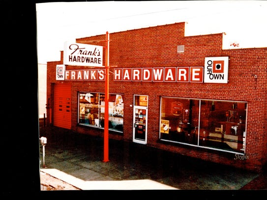 Photo of an old Frank's Hardware.