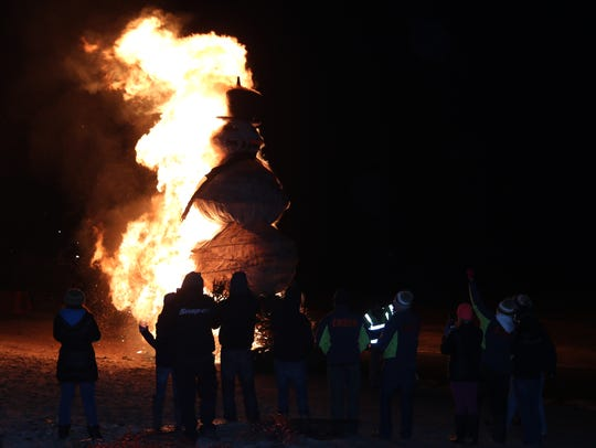"""""""Floyd"""" burned for about two minutes, flames stretching"""
