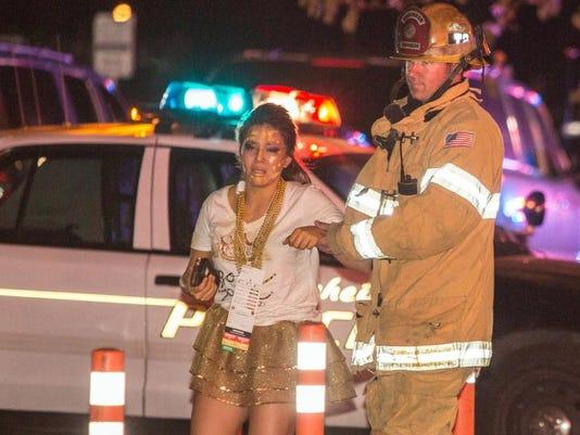 APTOPIX Anaheim Stage Collapse