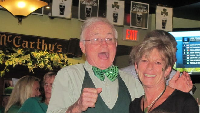 Singing throughout the day and evening is a very Irish tradition on St. Patrick's Day -- from traditional Irish tunes to old American favorites. If you've forgotten the words to songs, better get busy and brush up on them -- as everyone sings at McCarthy's Pub, in Tequesta.