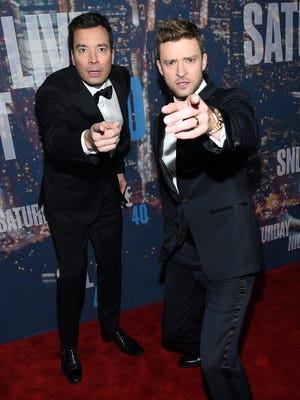 Jimmy Fallon and Justin Timberlake opened the show.