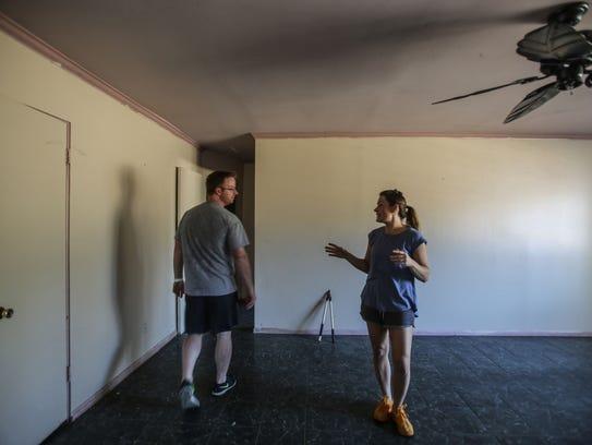 Desert Flipper TV hosts Eric and Lindsey Bennett inside