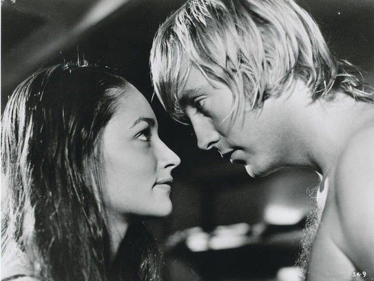"""Chris Mitchum romanced Olivia Hussey in 1972's """"Summertime"""