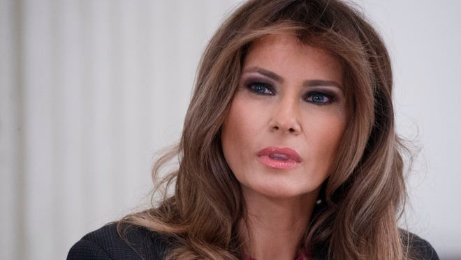 First lady Melania Trump is staying in Palm Beach for spring break while President Trump heads back to D.C.
