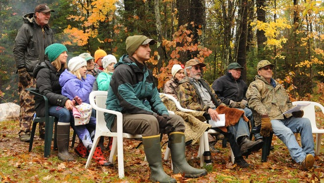 "Eighteen hardy citizen sawyers took part in a re-enactment of Aldo Leopold's ""Good Oak"" chapter from his book ""A Sand County Almanac."""