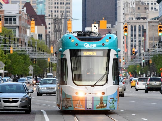 The idea of a streetcar running through downtown Detroit