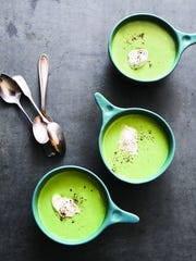 "This simple pea soup from ""Eating from the Ground Up"""