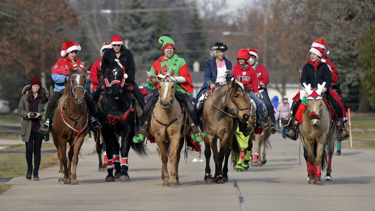 A Second Chance Equine Rescue in Larsen saves and rehabilitates slaughter-bound horses. Six rescue horses were involved in a Christmas caroling event in Fox Crossing.