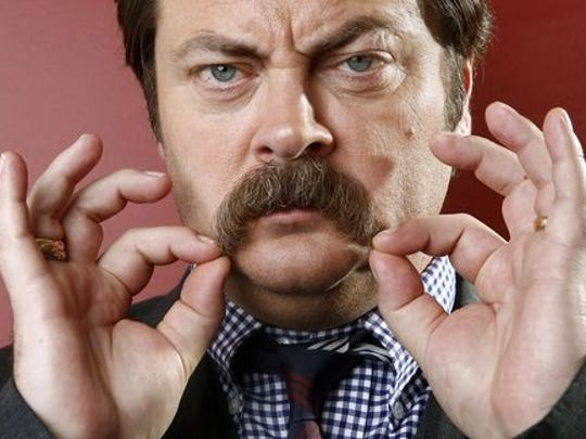Nick Offerman voices the title character on Fox's late-night animated series 'Axe Cop.'