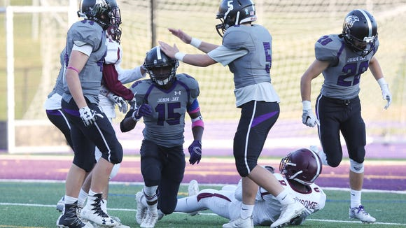 John Jay defeated Harrison 31-12 in playoff football