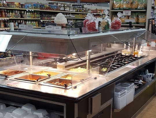Hot and cold food bar at Fox's Piggly Wiggly in Manitowoc.
