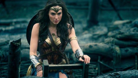 "Wonder Woman (Gal Gadot) heads into battle in ""Wonder"