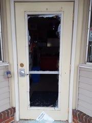 A burglar broke the front door glass of Jeff's Fireworks.