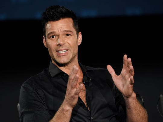 Ricky Martin, appearing at a Television Critics Association