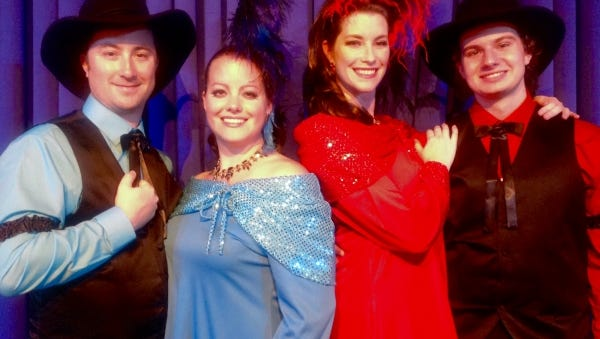 """""""Riverboats and Ragtime"""" cast (from left) Gregory Harris, Caitlin Harris, Beth McKenzie-Shestak and Brendan Wenger."""