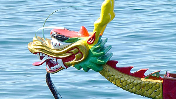 The boats all have decorative dragon heads festooning the front end, helping add to the mystique and nature of the boats.