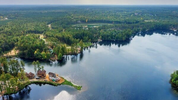 """A few home from the development Brad Pavloski and his brother created on Nepco Lake in Saratoga. The development is featured in an episode of """"Lakefront Bargain Hunt"""" airing 7 p.m. Sunday on HGTV."""