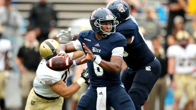 Rice quarterback Driphus Jackson