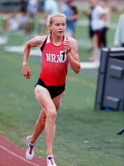 Katelyn Tuohy competes in the 3000 meter run during the Section 1 state track qualifier at Arlington High School on May 31, 2018.