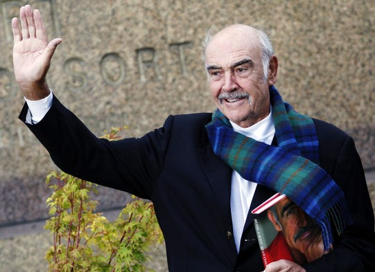 Scottish actor Sean Connery, shown in 2008,  said he is for independence for Scotland.