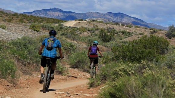 The Bearclaw Poppy Trail is popular among mountain bikers.