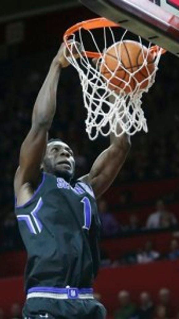 Seton Hall forward Michael Nzei (AP)