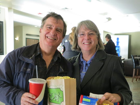 Norm and Kay Overbay of Redding attend the Academy