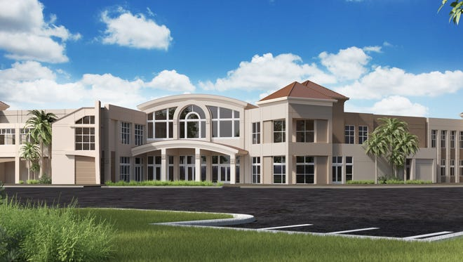 An artist's rendering of the planned two-story, 44,000-square-foot Tribby Arts Center at Shell Point Retirement Community.