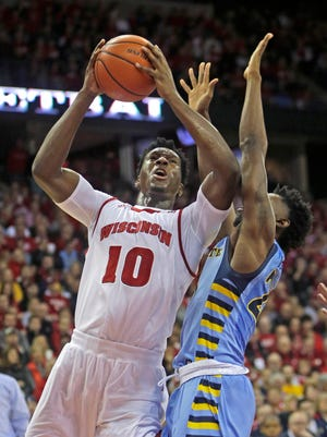 Nigel Hayes and the Badgers lost to Marquette at home last season.