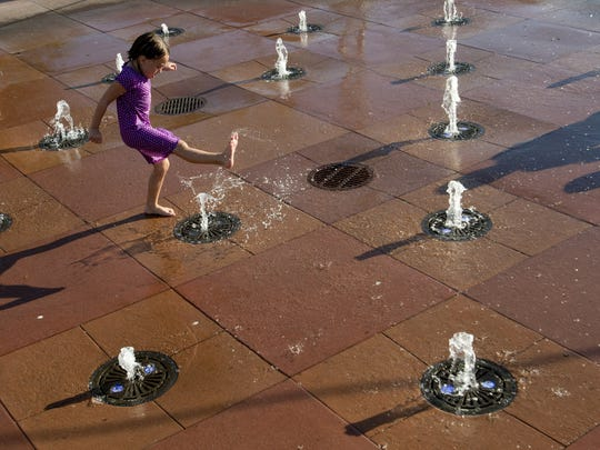 Water Tower Park in Gilbert is a great place to get your kicks while getting soaked.