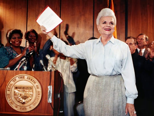 "Gov. Rose Mofford said, ""If you want to be heard, vote."""