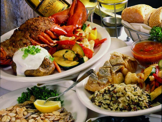 Calamari, baked stuffed lobster, mussels and a variety of fish are among the seafood dishes available at the Salt Cellar.