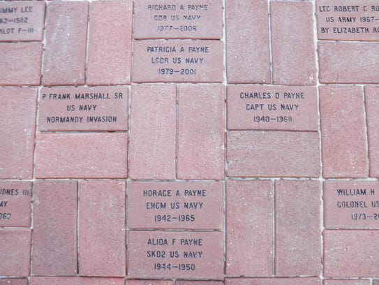 Bricks in Pike Road's Veterans Walk of Honor pay tribute