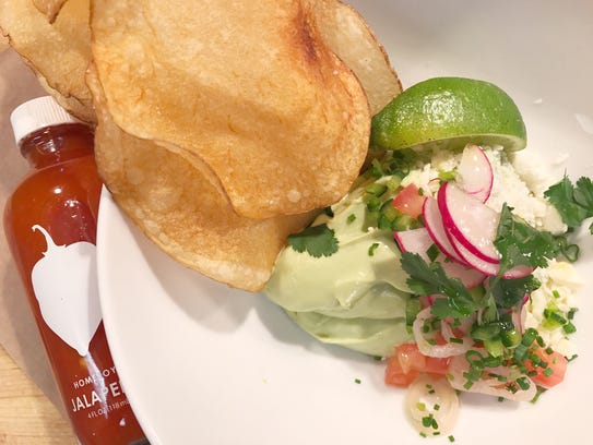 The chips 'n' guac at The Market Restaurant + Bar by