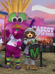 Reggy the Purple Party Dude and Sir Roland BraveHeart