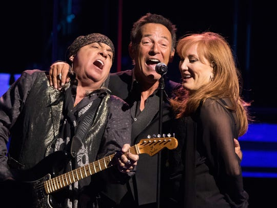 Steven Van Zandt, Bruce Springsteen and Patti Scialfa