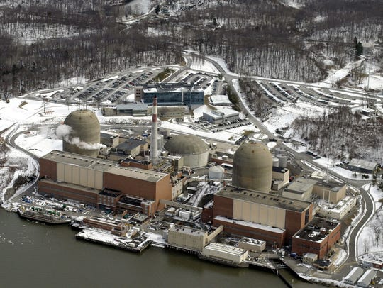 The Indian Point power plant on the shores of the Hudson