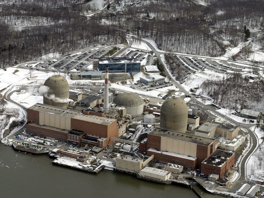 Aerial shot of Indian Point power plant in Buchanan.