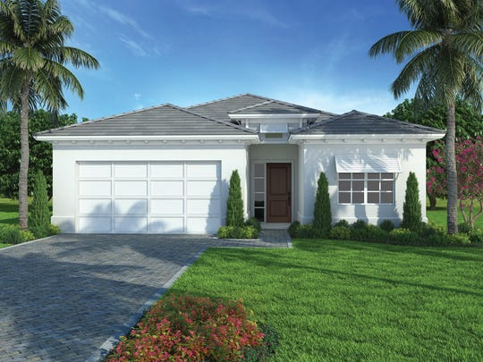 The Maravilla design is one of two homes underway by FL Star at Sapphire Cove.