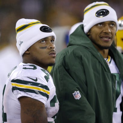 Green Bay Packers running back Don Jackson (34) looks