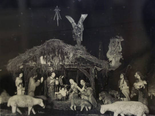 Historic photos of the Algona Nativity Scene on display