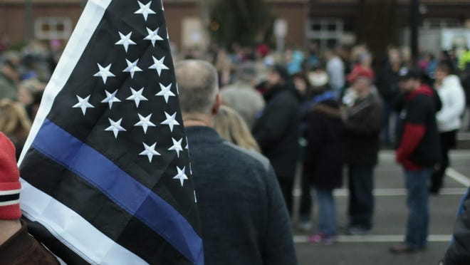 "The ""Thin Blue Line"" flag has been used to show support for police officers, but it has also been interpreted as a way to criticize the Black Lives Matter movement."