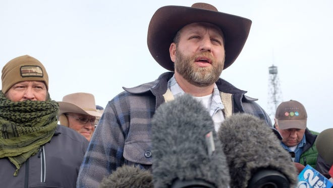 Ammon Bundy at the Malheur National Wildlife Refuge in Oregon on Jan. 4, 2016.