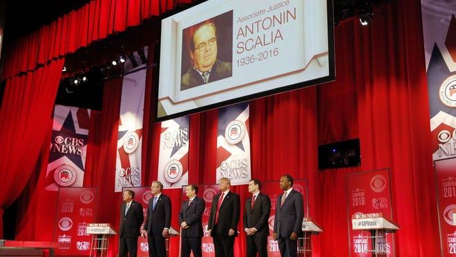 The Republican presidential debate in Greenville, S.C., on Feb. 13, 2016.