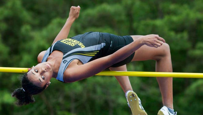South Brunswick's Courtney Campbell won the Girls Group IV high jump at the State Championships on June 3.