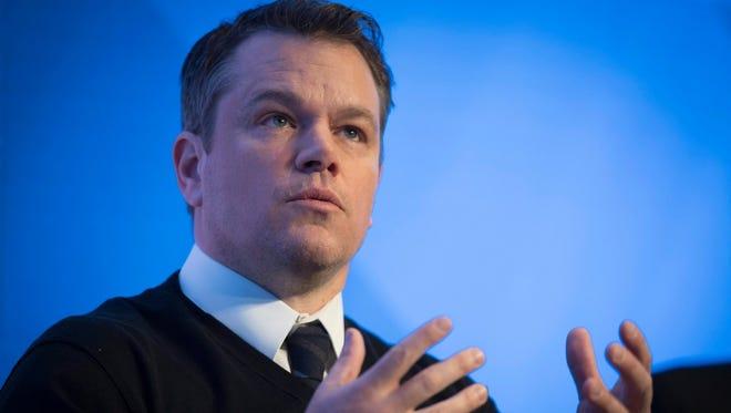 Matt Damon in Davos, Switzerland, on Jan. 18.