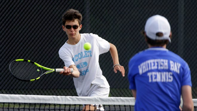 Nicolet sophomore Jaden Aranda defended his No. 1 singles title at the North Shore Conference meet, and won the No. 1 singles crown at the Marquette Sectional this past week.