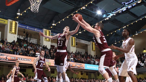 Mount Vernon defeats Scarsdale 67-61 to take the Section 1 Class AA boys championship basketball game at the Westchester County Center in White Plains on Sunday, March 5, 2017.