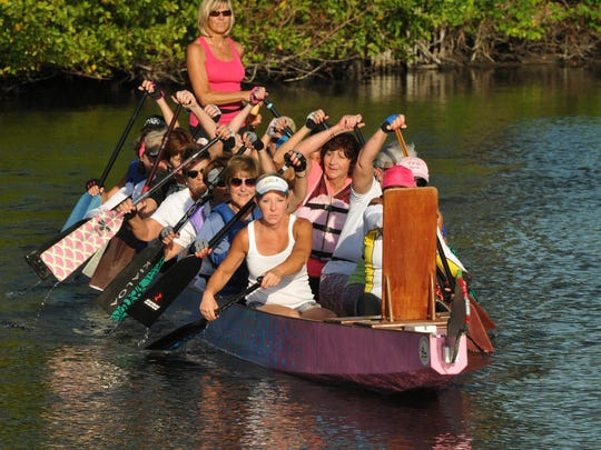 Rowers with the Heart & Soul Dragon Boat, which is a breast cancer survivor group, is one of the groups that has been helped out by the Health First Foundation Benefit Ball.