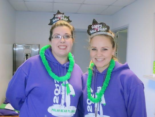 Jennifer Moore (left) and Shannon Lundberg, both of